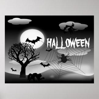 poster fantasmagórico de Halloween