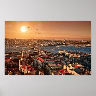 Poster fantástico de Estambul