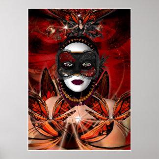 Poster Fantasy Art Butterfly Queen No border