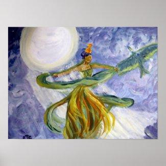 Poster - Fantasy Art - Moonlight Majesty print