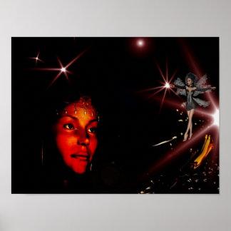 Poster Fantasy Art Wishing Star Fairy