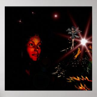 Poster Fantasy Art Wishing Star Fairy Large