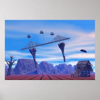 Poster Fantasy World Ships Bridge