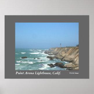 Poster - faro de la arena del punto, California