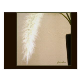 Poster - Feather and Vase