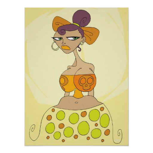 Poster feliz brillante de N (J.I.M. Artwork) Póster