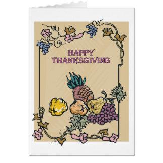 Poster feliz de la acción de gracias del vintage tarjeta de felicitación