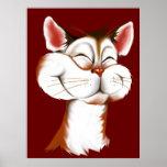 Poster feliz de la cara del gatito