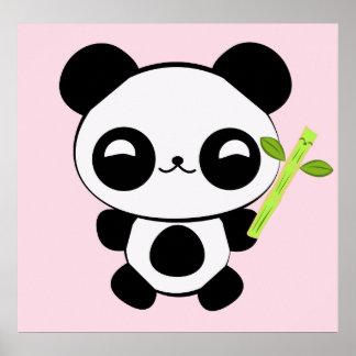 Poster feliz de la panda del bebé