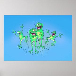 Poster feliz de las ranas