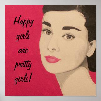 Poster feliz de los chicas