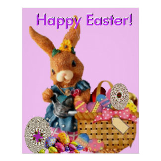 Poster feliz de Pascua -