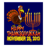 Poster feliz de Thanksgivukkah Thankgiving Jánuca