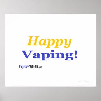 ¡Poster feliz de Vaping para esa ocasión especial!
