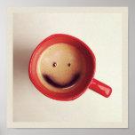 Poster feliz del café de la buena mañana