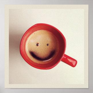 Poster feliz del café de la buena mañana póster