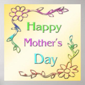 Poster feliz del día de madre