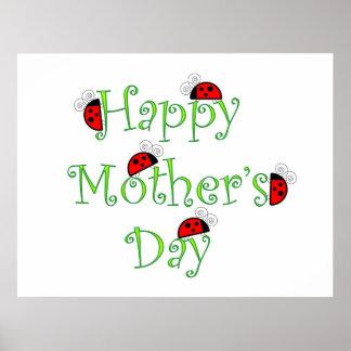 Poster feliz del día de madres