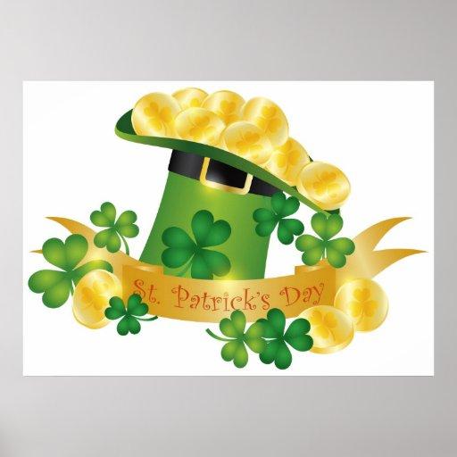 Poster feliz del gorra del Leprechaun del St. Patr