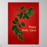 Poster feliz del navidad de los Acebo-Días