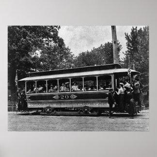Poster ferroviario 1900 de la carretilla de Columb