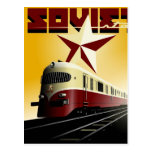 Poster ferroviario comunista del vintage ruso postal
