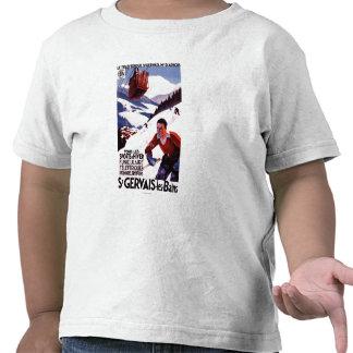 Poster ferroviario del promo del teleférico de la camiseta
