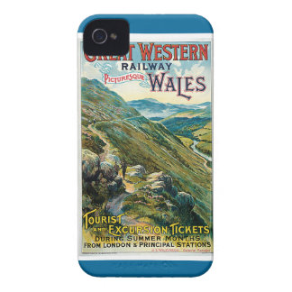Poster ferroviario del viaje de Great Western del Funda Para iPhone 4