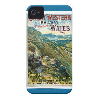Poster ferroviario del viaje de Great Western del iPhone 4 Carcasa