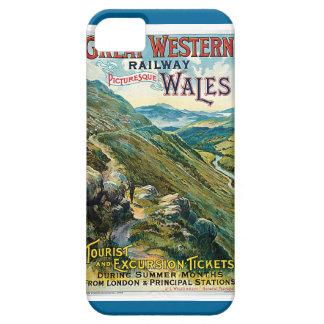 Poster ferroviario del viaje de Great Western del iPhone 5 Carcasas