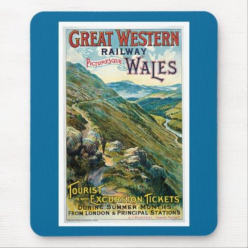 Poster ferroviario del viaje de Great Western del  Tapetes De Ratón
