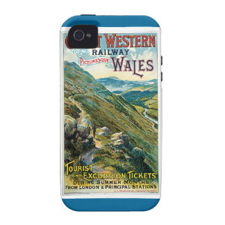 Poster ferroviario del viaje de Great Western del Vibe iPhone 4 Fundas