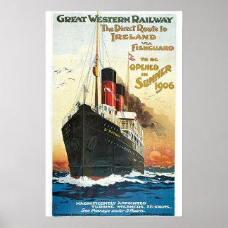 Poster ferroviario del viaje del vintage de Oceanl