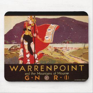 Poster ferroviario irlandés de Warrenpoint Alfombrillas De Ratones