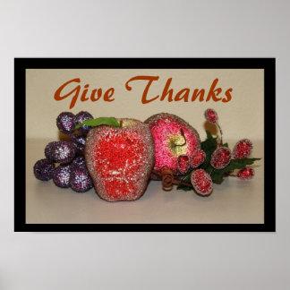 Poster festivo de las frutas