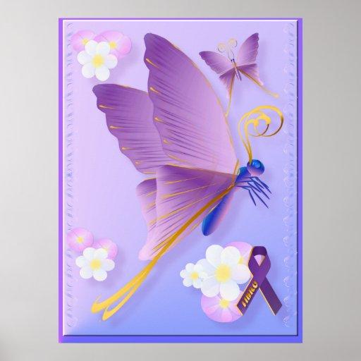 Poster fibro púrpura de la conciencia