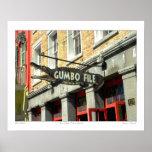 "Poster fichero del Gumbo"" de la fotografía del bar"