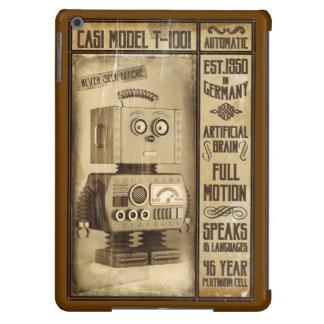 Poster ficticio del robot del vintage funda para iPad air