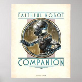 """Poster fiel del compañero del robot (16x20"""")"""