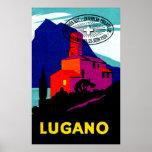 Poster filatélico 1934 de Lugano
