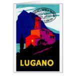 Poster filatélico 1934 de Lugano Felicitaciones
