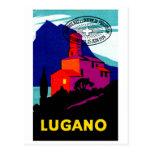 Poster filatélico 1934 de Lugano Postal