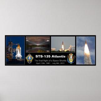 Poster final del vuelo de STS-135 la Atlántida Póster