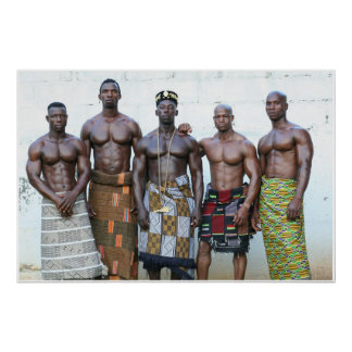 Poster, Five Warriors, Cote d'Ivoire, West Africa