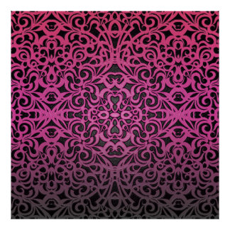 Poster Floral Abstract