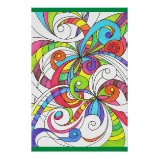 Poster Floral abstract background