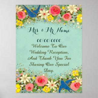 poster floral colorido, casando el poster