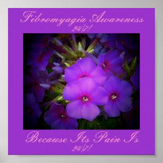 Poster floral de la conciencia del Diseño-Fibromya