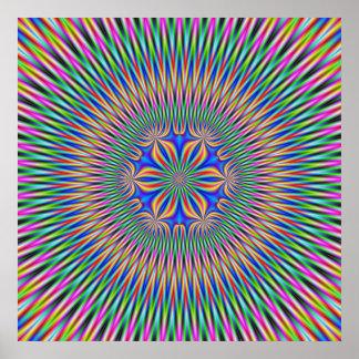 Poster  Floral Motif in Color