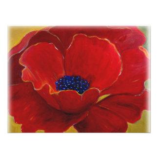 Poster floral rojo grande fotografías